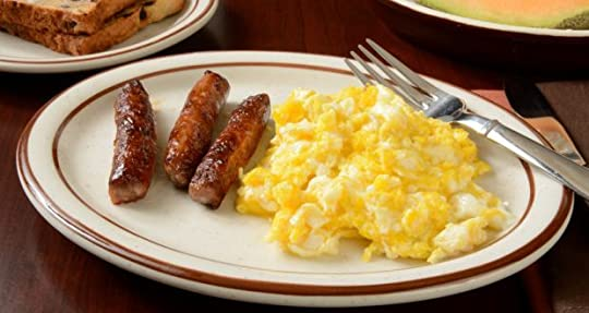 Eggs and sausages