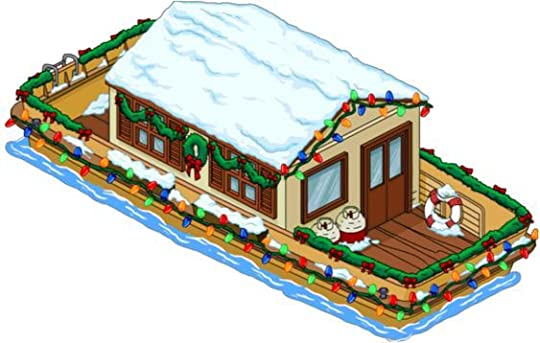 houseboat at christmas