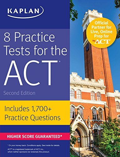 B071k2n3ty d0wnload 8 practice tests for the act pdfaudiobook by 8 practice tests for the act fandeluxe Choice Image