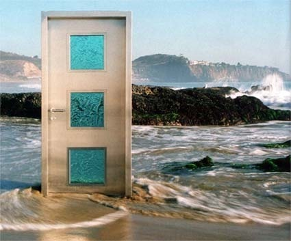 A much more stylish door than Ronald's on a beach