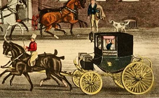 "Detail from Pollard, The Mail Changing Horses at ""The Falcon"" at Walthamstowe, image from The Autobiography of a Stage Coachman, courtesy Archive.org"