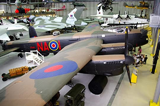 Avro Lancaster KB889, on static display at the Imperial War Museum, Duxford.