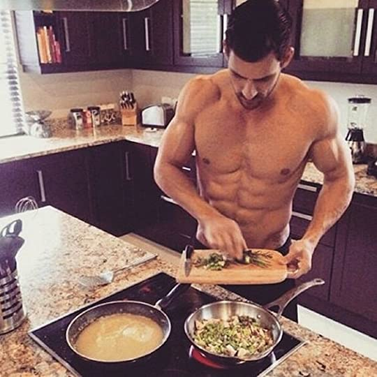 sexy man cooking