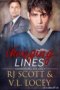 Changing Lines, Sports Romance, Hockey Romance, MM Romance, RJ Scott, VL Locey
