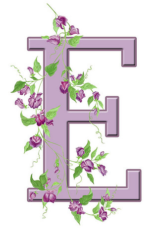 letter-e-floral-initial