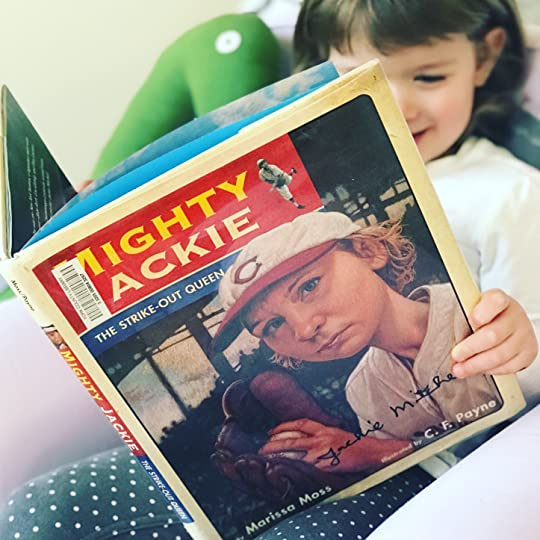 https://thebabybookwormblog.wordpress.com/2018/03/14/mighty-jackie-the-strike-out-queen-marissa-moss/