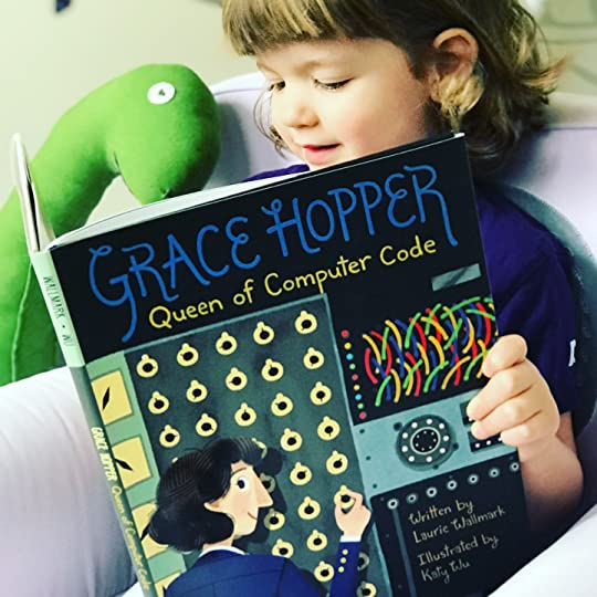 https://thebabybookwormblog.wordpress.com/2018/03/19/grace-hopper-queen-of-computer-code-laurie-wallmark/