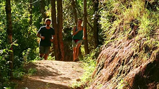 couple trail running