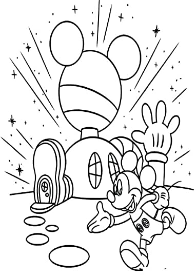 mickey mouse clubhouse coloring page mickey mouse clubhouse mickey in front of his clubhouse coloring page mickey in front mickey mouse clubhouse printable coloring book