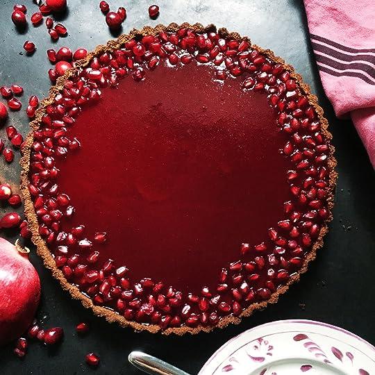 Butternut Squash Tart with Pomegranate-Cranberry Glaze