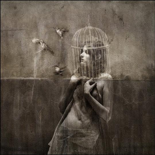 تصویر بالا اثری است در ژانر دارک سورئالیسم از هنرمند مشهور لهستانی ایگور مورسکی