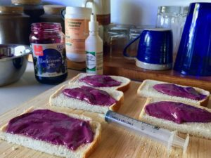 jam sandwiches on a kitchen counter