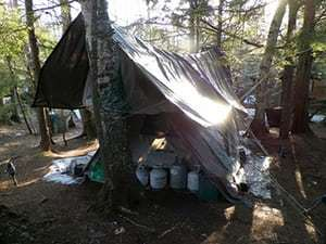 Maine hermit: Christopher Knight's makeshift camp