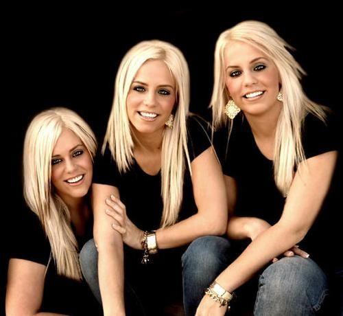 blonde triplets women