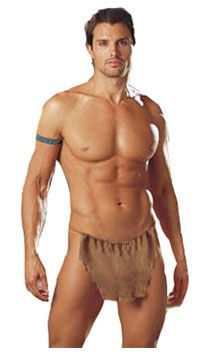 man in tarzan loin cloth