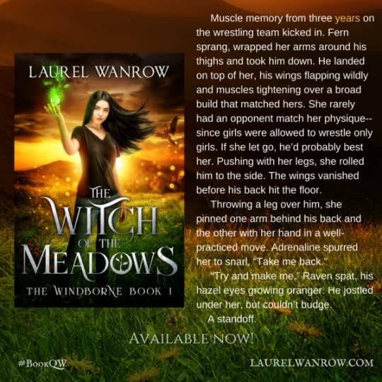 The Witch of the Meadows by Laurel Wanrow YA fantasy nature nerds book quote teaser