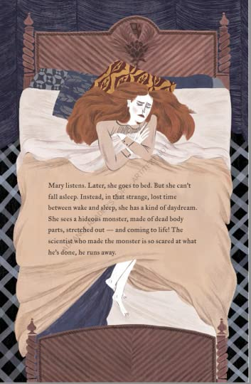 Mary who wrote frankenstein- in bed