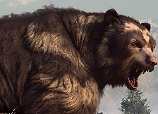 short-faced bear roaring