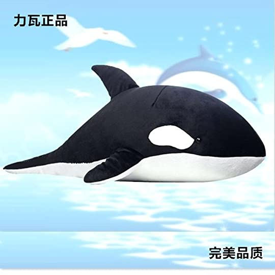 black and white whale big killer whales toy stuffed doll gift about ac4 flag
