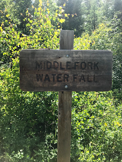 Sign says Middle Fork Water Fall