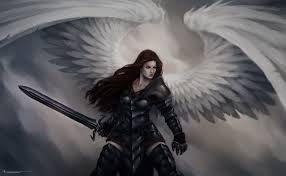 beautiful female angel warrior