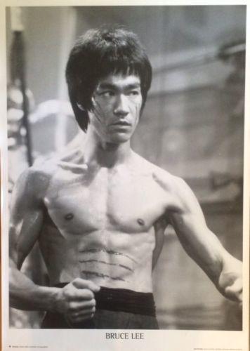 Bruce Lee B/W Poster