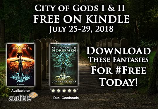 Promo for the City of Gods series - free on Kindle July 25-29, 2018