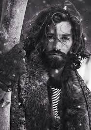 sexy mountain man in the snow