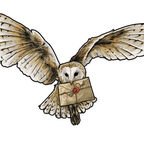 Картинки сова с письмом