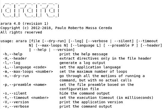 screen shot of arara transcript (reproduced below)