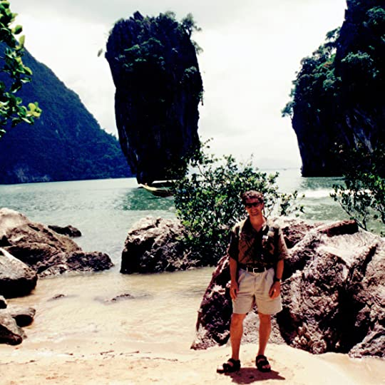 Andrew Hudson in Phang Nga Bay, Thailand, July 27 1994