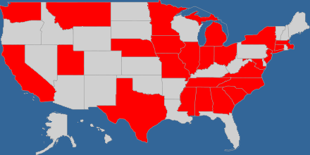 Christian Fiction Devourers - 2018 Reading Challenges: The 50 states on