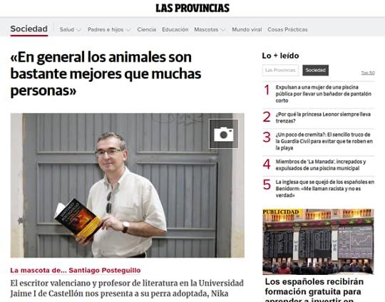 Santiago Posteguillo en Las Provincias