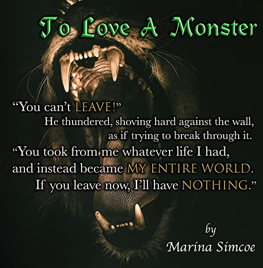 to love a monster by marina simcoe