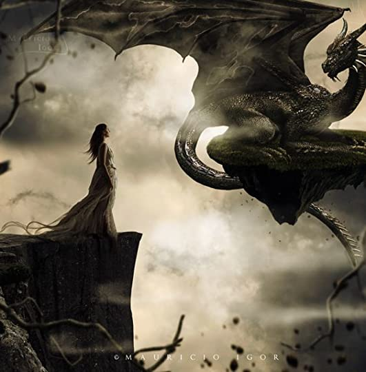 Woman and her dragon