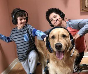 Recording new kids' audiobook