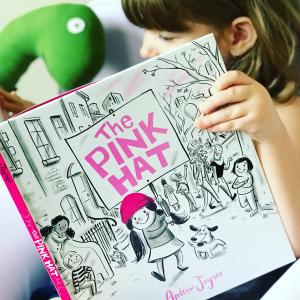 https://thebabybookwormblog.wordpress.com/2018/08/14/the-pink-hat-andrew-joyner/