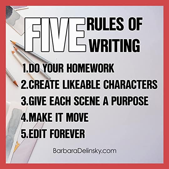 How to Write Like Delinsky: My Five Rules Of Writing https://buff.ly/2p8ojPd by @BarbaraDelinsky #Writing #WritingRules #WritingTips #AmWriting