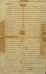 Fair Copy of the Draft of the Declaration of Independence (Source New York Public Library)