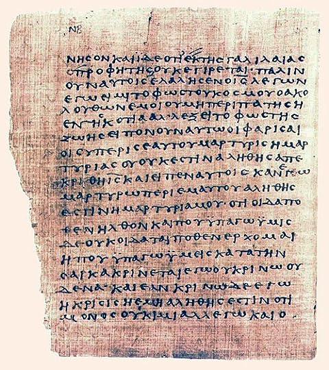 The Gospel of John 200AD as Ancient Egyptian manuscript]