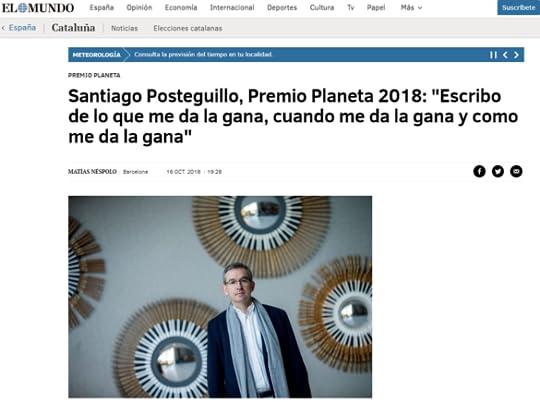 santiago posteguillo premio planeta 2018 - el mundo