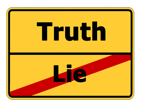 sign post truth lie