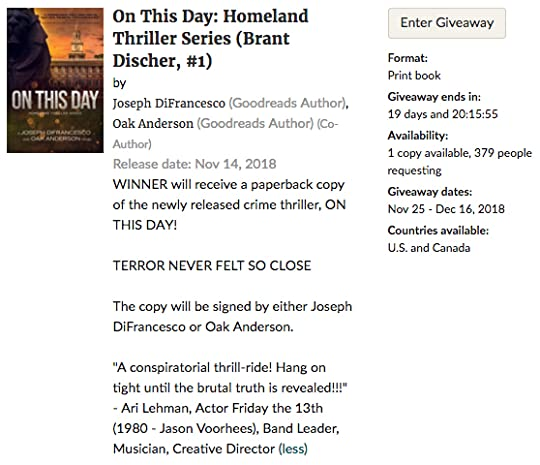 Goodreads Giveaway photo On This Day - Goodreads Giveaway - Photobucket_zpsatv6pgjm.jpg