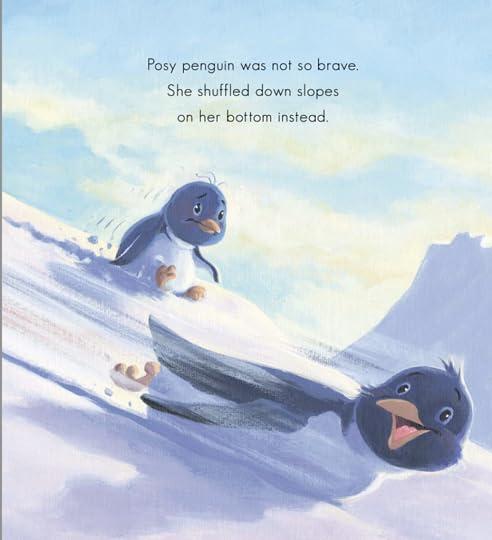 Not so brave penguin