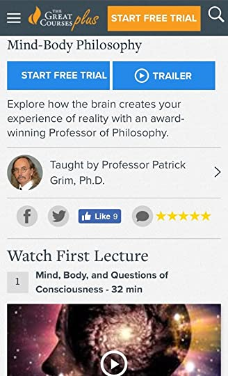 Great Courses Plus Mind-Body Course Screenshot