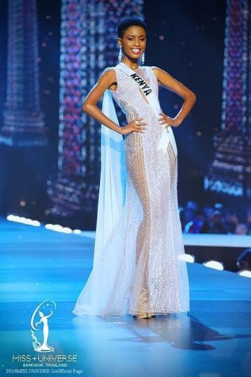 2cf463efccd Miss Universe Kenya Wabaiya Kariuki--Wabaiya wore this sheer silver gown  designed by Filipino designed Jian Lasala which featured silver sequins and  ...
