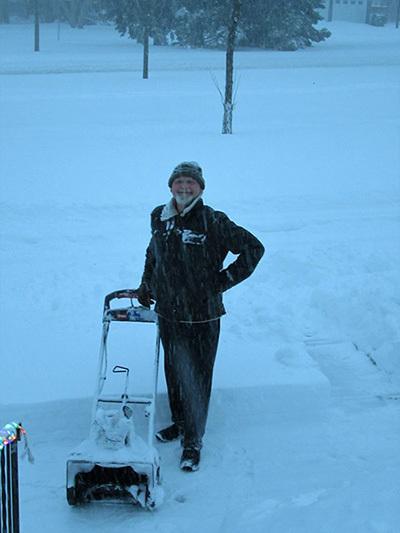 William Kent Krueger in the snowstorm