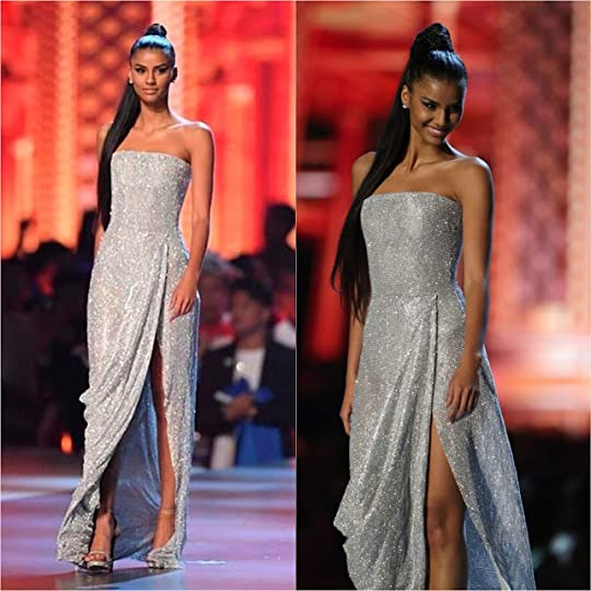 2. Miss Universe South Africa Tamaryn Green--Tamaryn, who ended up as Almost-Miss-Universe--or 1st Runner-up--wore this silver crystal gown for the Miss ...