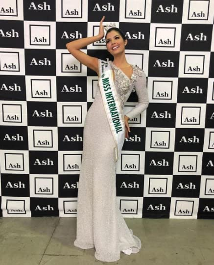 9. Miss International Colombia Anabella Castro Sierra--This ivory sequined dress was created by legendary Colombian designer Alfredo Barraza for Miss ...