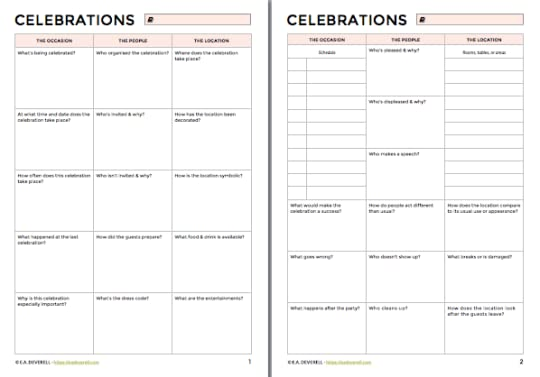 How to Write a Celebration, Party or Feast